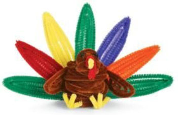 pipe cleaner turkey girl scout guide