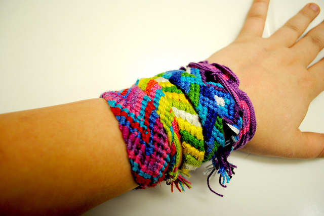 Diagonal Knotted Bracelet