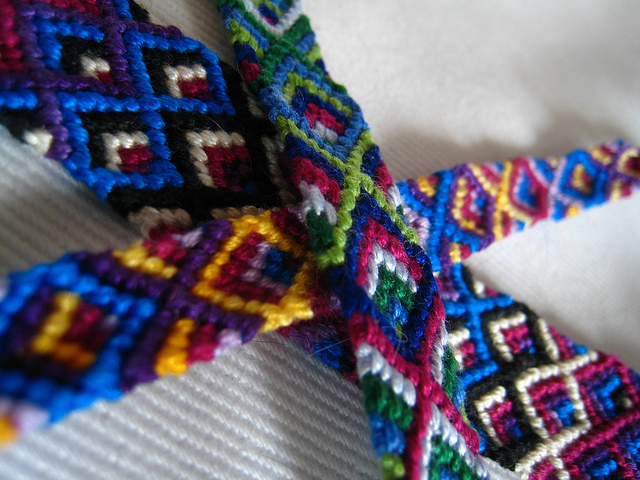 5 Color Chevron Bracelets