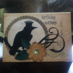 Cricut October Birthday Card