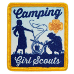 Camping Girl Scouts Vintage Patch